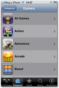 Sub-categorias dos jogos