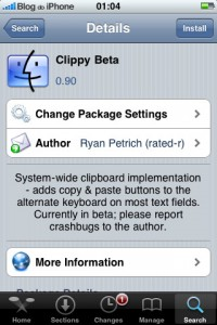 Clippy Beta no Cydia