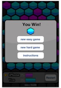 Consegui ganhar!