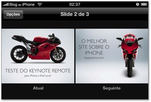 Veja suas apresentações direto no iPhone