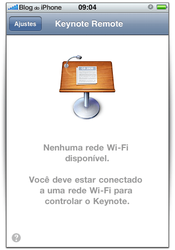 Precisa de uma rede wi-fi
