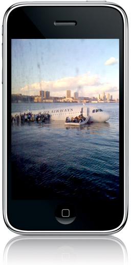 Foto do acidente feita por um iPhone