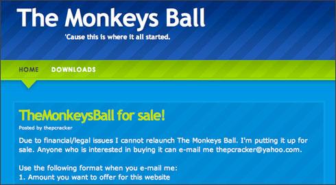 The Monkeys Ball foi por muito tempo referência na distribuição ilegal de aplicativos