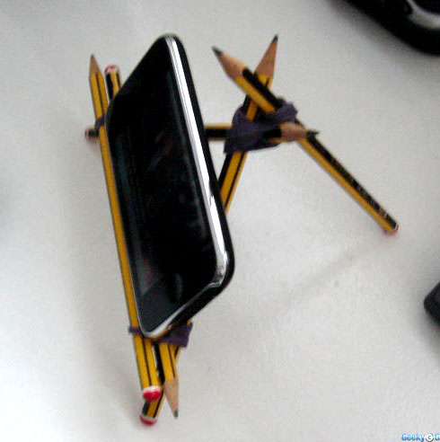 Base de lápis para iPhone