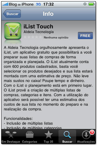 iList touch na App Store