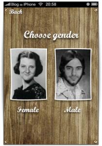 Escolha entre homem e mulher