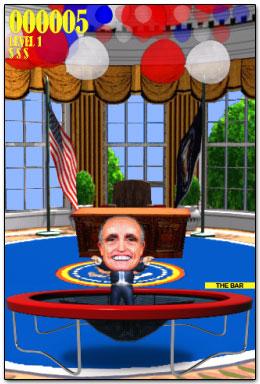 Trampoline Obama