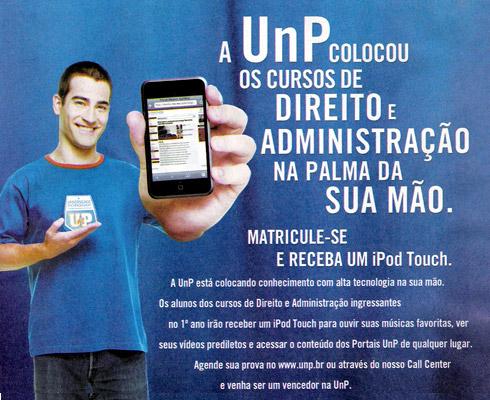Universidade dá iPod touch a seus alunos