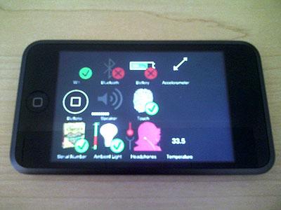iPod em diagnostic modo