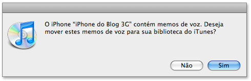 Guardar áudio no iTunes