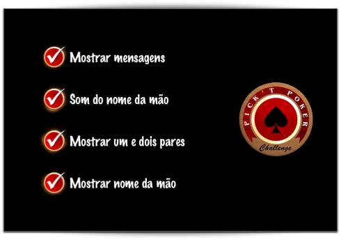 Menus em português