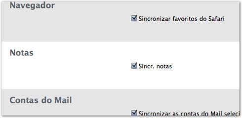 Opção no iTunes