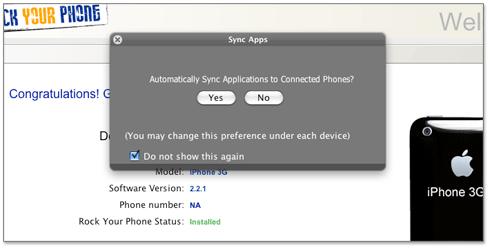 Sincronização de aplicativos não oficiais