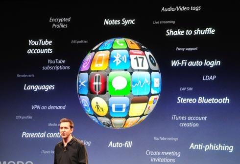 Novo iPhone OS 3.0 com várias novidades