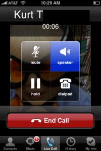 Ligação no Skype