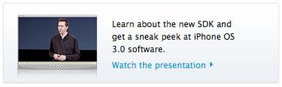 Vídeo da apresentação do iPhone OS 3.0