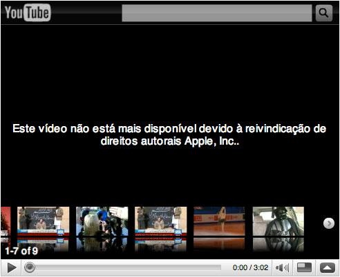 Vídeo retirado pela Apple Inc.
