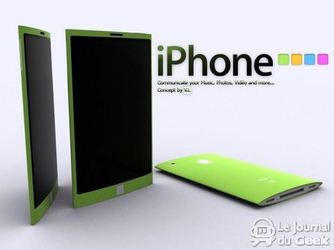 Imagem conceito de um futuro iPhone