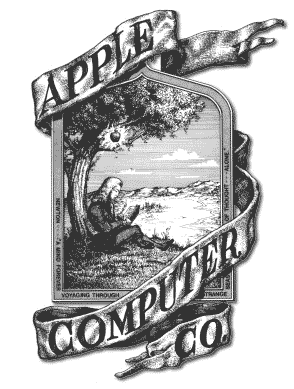 Primeiro logo da Apple