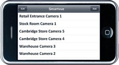 Várias câmeras diferentes