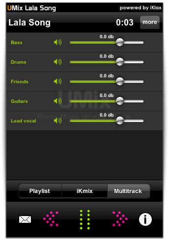 O aplicativo permite mexer nas faixas independentemente