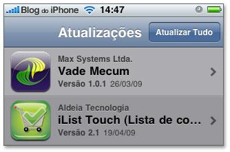 Atualizações de aplicativos brasileiros