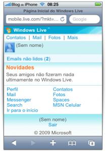 Windows Live no iPhone