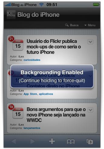 Multitasking no iPhone