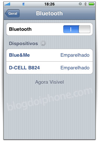 Blue&Me no iPhone