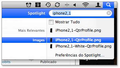 iPhone 2,1 facilmente encontrado no computador