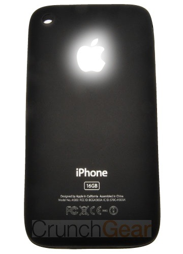 Maçã luminosa no novo iPhone