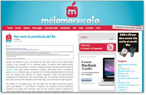 Blog italiano Melamorsicata