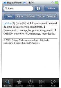 Definição de palavras