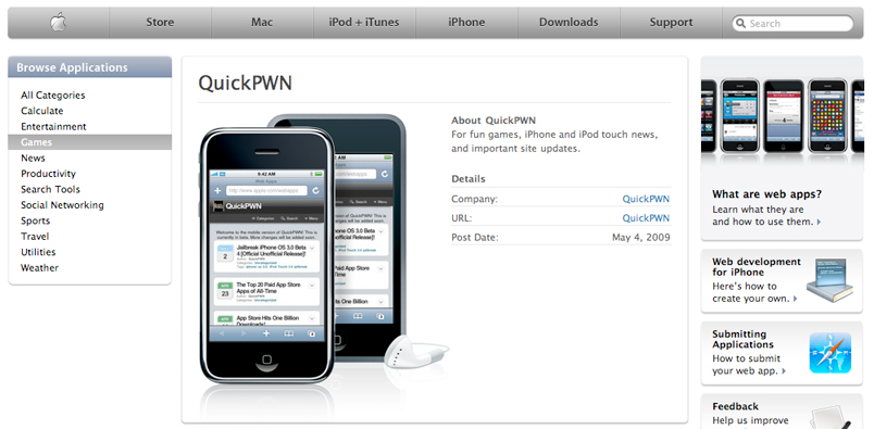 QuickPWN na Apple