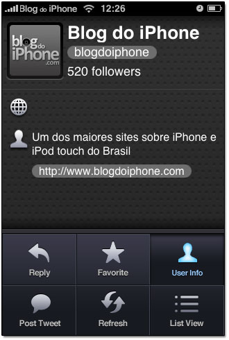 Twitter no iPhone