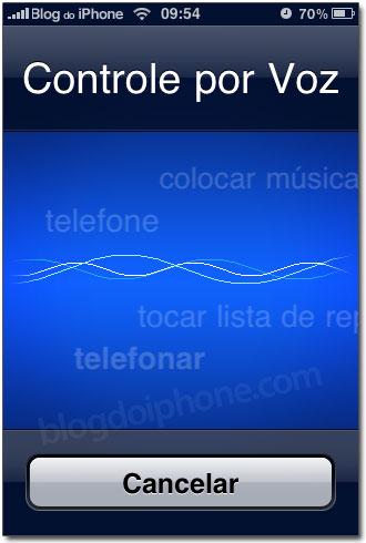 Controle por Voz no iPhone 3GS