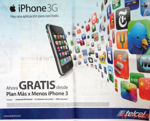 iPhone 3G grátis no México