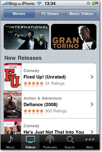Downloads de filmes no iPhone