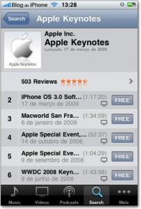 Keynotes da Apple