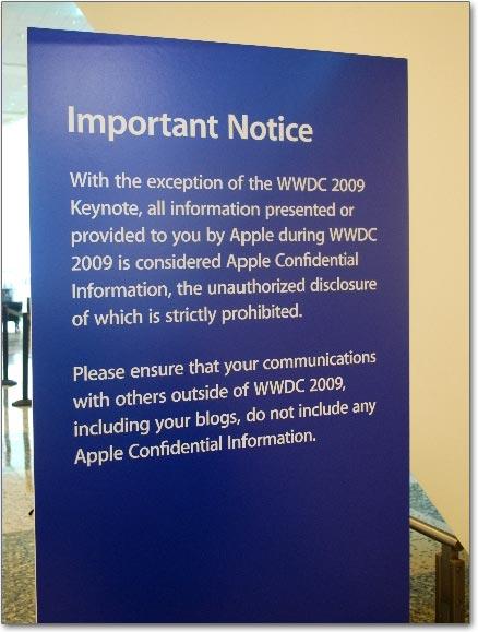 Proibido vazar informações na WWDC