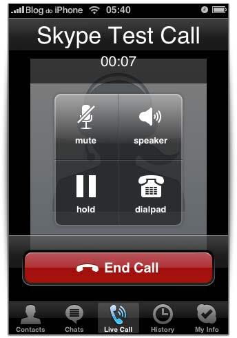 Mesma interface do Skype