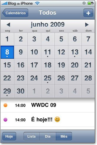 Dia da apresentação de abertura da WWDC 09