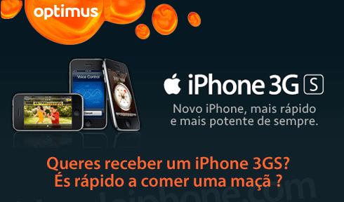 Promoção 3GS Optimus Portugal