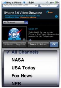 Vários canais disponíveis