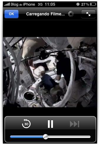 Veja o momento exato de quando o astronauta vai fazer pipi