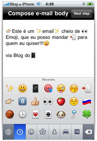 Emails com emoji
