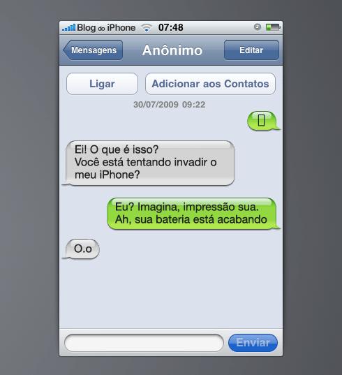Falha do SMS