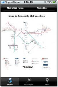 Mapa da rede ferroviária de São Paulo