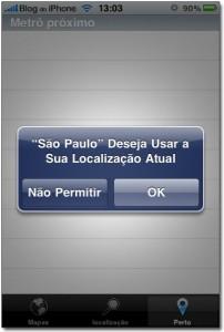 Aplicativo usa a geolocalização do iPhone