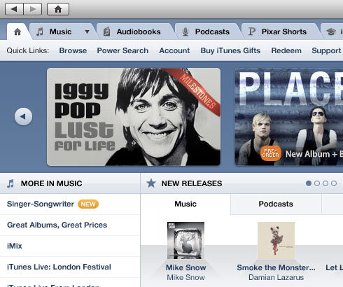 Nova iTunes Store